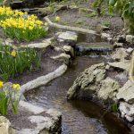 Waterstroompje in de tuin.